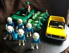 Vintage Playmobil Policemen Sets 3215 and 3401(Green Car Rare)
