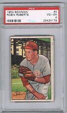 1952 Bowman ROBIN ROBERTS # 4 (PSA 4 VG-EX) MLB Hall of Fame (179