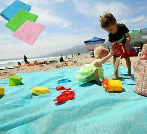 2m*2m Strandmatte sandfrei Stranddecke Picknick Decke Campingdecke Strand Tuch !
