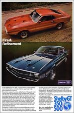 FOUR 24x36 Ad Posters 1967 1968 1969 Ford Mustang Shelby Cobra GT500 GT350