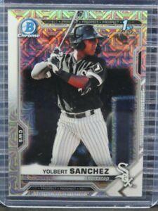 2021 Bowman Chrome Mega Box Yolbert Sanchez Prospect #40 White Sox Y193