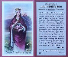 Santino Holy Card: Santa Elisabetta Regina - Ed. EB 2/190