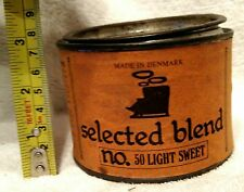 VINTAGE/RARE W. O. LARSEN NO.50 LIGHT SWEET TOBACCO TIN