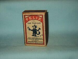 Antique Matchbox - FELIX THE FILM CAT Decoration