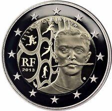Frankreich 2 Euro Baron Pierre de Coubertin Gedenkmünze 2013 Polierte Platte