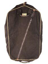 Lands End Square Rigger Garment Bag Hanging Luggage Suit Tote Brown Vintage B23