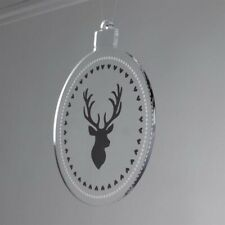 Stag Design Printed Acrylic Bauble Christmas Tree Decoration
