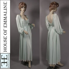 Vintage 1970s Claire Sandra Lucie Ann Grecian Goddess Empire Nightgown NOS 38