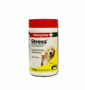 Vetzyme Stress Powder for Dogs and Cats Strong Teeth & Bones Vit. (5.3 oz) 150 g