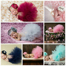 Newborn Girl Crochet Knitted Tutu Skirt Costume Photography Prop Outfits 2 month