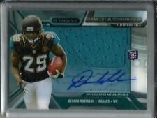 Denard Robinson 2013 Topps Strata Autograph Game Used Jersey Rookie