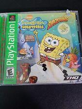 SpongeBob SquarePants: SuperSponge (PlayStation 1, 2001) Excellent Condition CIB