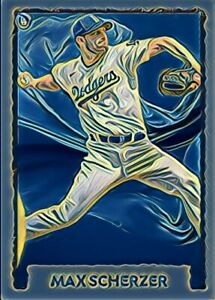"""Max Scherzer Custom Art Baseball Card """"read description"""""""