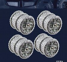 Bling Bling Diamond Ice Crystal Chrome Tire Valve Caps For Cars Motorcycle