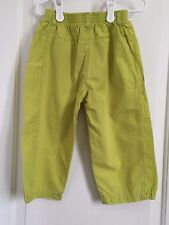 Catamini girls size 6 multi color polka dot embroidered capri pants
