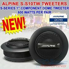 "ALPINE S-S10TW 1"" CAR AUDIO STEREO TYPE-S 600W PURE SILK TWEETERS & CROSSOVERS"