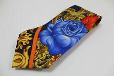 cravatta tie krawatte GIANNI VERSACE multicolore maison100% seta silk soie (535)
