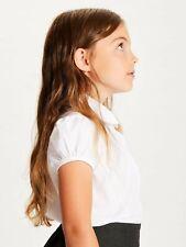 (2-PACK) EX M&S Girls White Short Sleeve School Blouse Shirt  4 5 6 7 8 9 10 11