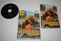 Cabela's Dangerous Hunts 2009 Nintendo Wii Video Game Complete