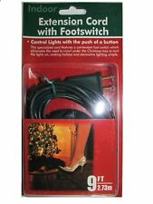 9 Foot Christmas Extension Cord with On/Off Foot Switch - UL Listed