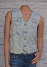 Diesel Women blue Denim Studded Vest Size M