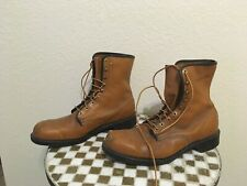 DISTRESSED MADE IN USA WOLVERINE LACE UP OIL RESISTANT TRUCKER WORK BOOTS 12M