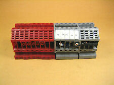 Euro -  4 -  Terminal Blocks, 2 Colors, Gray and Red (Lot of 18)