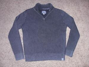 LUCKY BRAND thick zip neck long sleeve pullover shirt men's XL