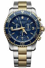 New Victorinox Maverick Chronograph Blue Dial Stainless Steel Men's Watch 241791
