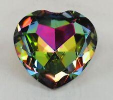 Crystal Diamond Jewel Paperweight 80 mm Heart Translucent Rainbow