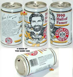 1990 HALL FAME FRANCO HARRIS PITTSBURGH STEELERS BEER CAN FOOTBALL NFL PA SPORTS
