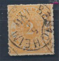 Württemberg 37 Pracht gestempelt 1869 Ziffern im Oval (8162215