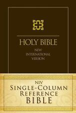 Niv Single-Column Reference Bible (2012, Hardcover, Special)