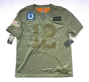 Nike NFL Andrew Luck Mens Lg Salute To Service Colts #12 Sewn Jersey BQ0557-227