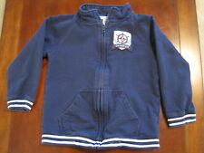 Janie and Jack Boy Navy Blue Nautical Sailing Cotton Coat Jacket Size 5 EUC