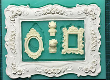 JM Picture Frames Sugarcraft Cake Decorating Silicone Fondant molds