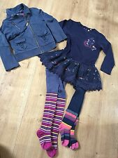 ensemble fille marese 4 ans robe veste et 2 paires de collants
