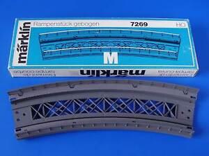 MARKLIN H0 - 7269 - CURVED RAMP SECTION - big radius - M Track / BOX - NEW