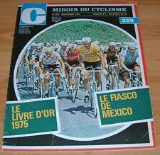 MIROIR CYCLISME N°209 1975 POSTER THEVENET TOUR FRANCE LIVRE OR MEXICO