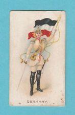 NATIONS - WILLS SCISSORS -  RARE  FLAG  GIRLS  CARD  -  GERMANY  -  1908