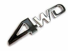 UK Stock 4WD Metal Badge Logo Chrome Black For Car Truck 4x4 Decal Emblem