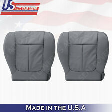 Driver & Passenger Bottom Perforated Leather Seat Cover 2011-2014 Ford F150 Gray