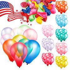 100 un. 10 Pulgadas Color Perla Globo De Látex gruesos Boda Fiesta Cumpleaños