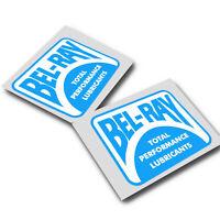 Bel Ray retro style sponsor stickers  motorcycle decals custom graphics x 2