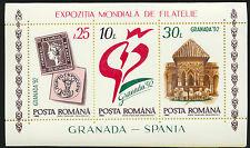 Romania #3743 Mint NH 1992 Philatelic Exhibition Souvenir Sheet Architecture