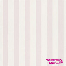 Rasch Tapete / Streifen / Rasch Bambino 246018 / Weiß Rosa / EUR 1,55/qm