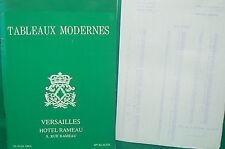 catalogue vente enchères VERSAILLES Tableaux modernes + liste prix de vente (8)