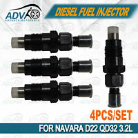 Diesel Fuel Injector Kit Set fit NISSAN for NAVARA QD32 D22 3.2L From AU