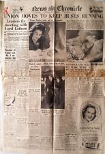 NEWS CHRONICLE - BROADSHEET FRONT-PAGE 29 DECEMBER 1948. NEWS OF PRINCE CHARLES
