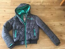 SUPERDRY SPORT DOUBLE BLACKLABEL PUFFER JACKET S SMALL PUFFA GREY (11-12-13 Year